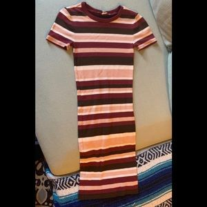 Forever 21-Contemporary ribbed knit T-shirt dress